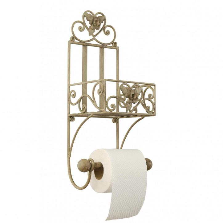 Toilettenpapierhalter Badregal Metall Blütenverzierung 20.5 x 15.5 x 43 cm