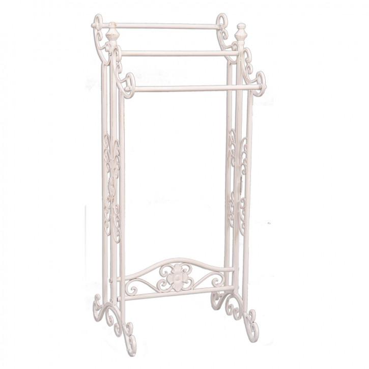 Gästetuchhalter aus Eisen weiß 40*37*91 cm