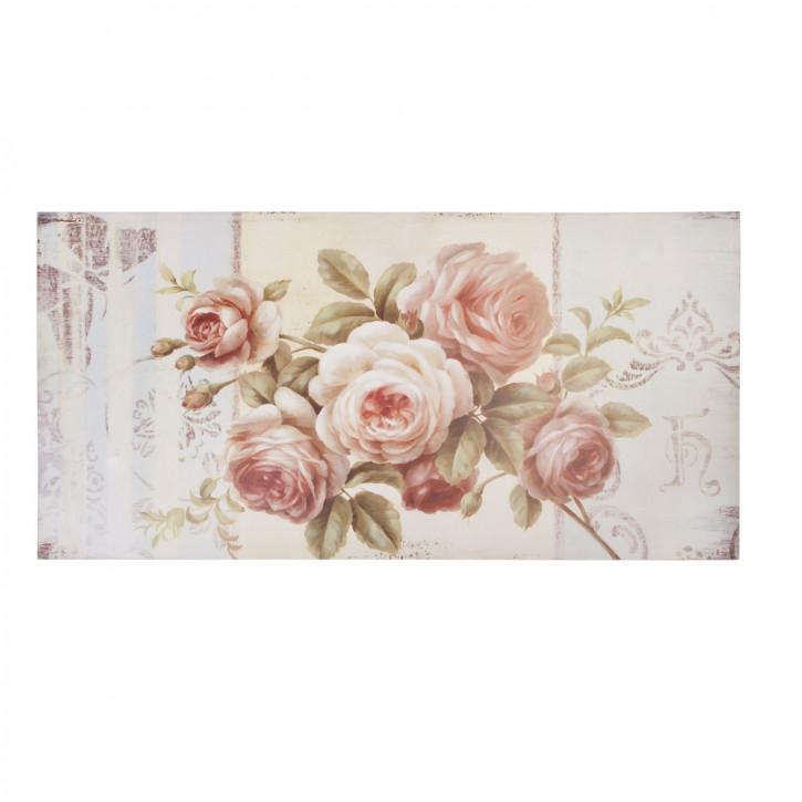 Bild auf Stoff Blumen ca. 100 x 50 x 3 cm