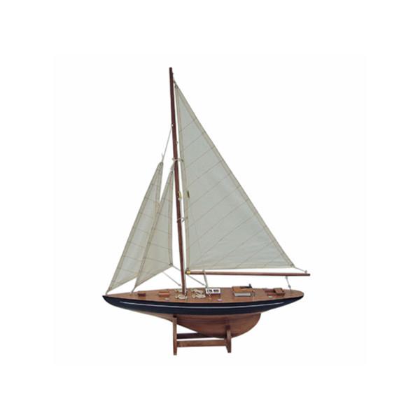 Segel-Yacht, Holz mit Stoffsegel, L: 40cm, H: 55cm