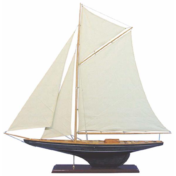Segler-Yacht, Holz mit Stoffsegel, L: 102cm, H: 109cm