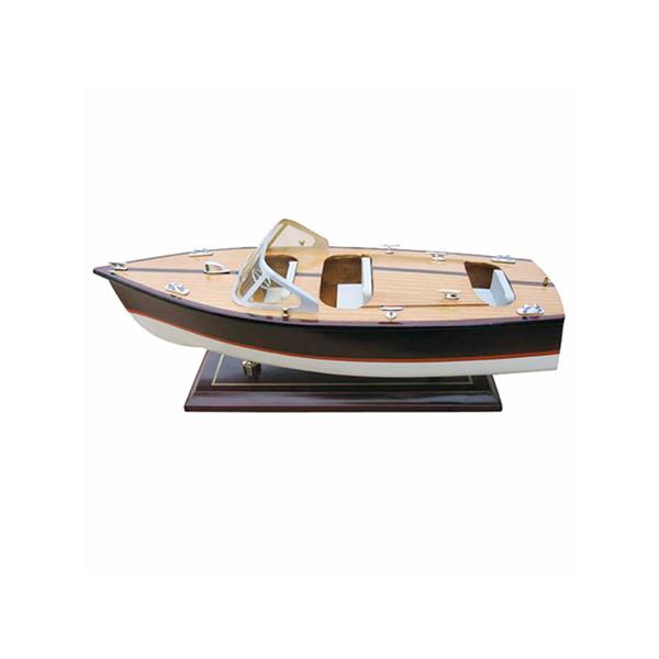 Italienisches Sportboot, Holz, L: 35cm, H: 13,5cm