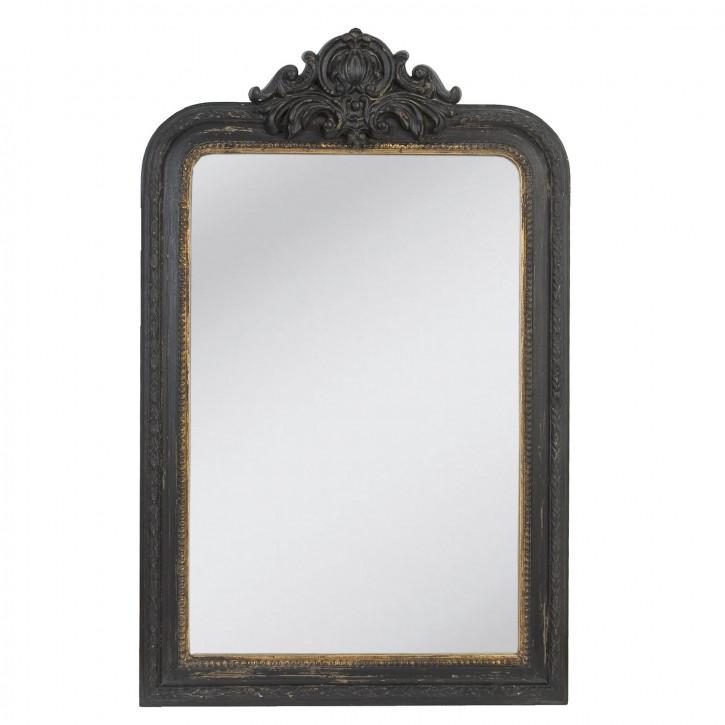 Spiegel schwarz mit Goldrand 77*120cm