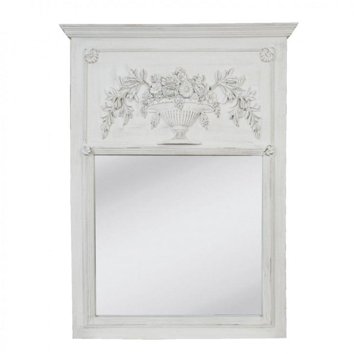 Spiegel mit Ornamenten weiß 90*120cm