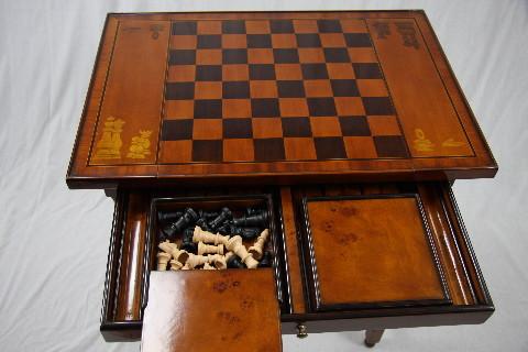 """""""Burl"""" Englischer Schach Spieltisch"""