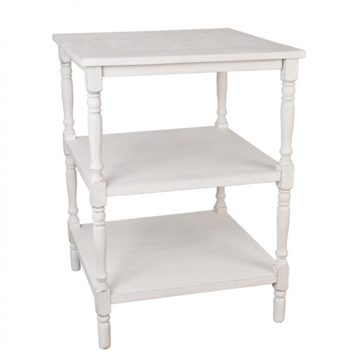Holztisch Weiß ca. 80 x 80 x 102 cm