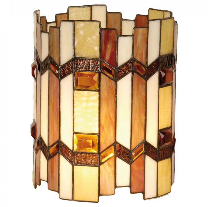 Lampenschirm Tiffany-Stil Bernsteinfarben ca. Ø 20cm