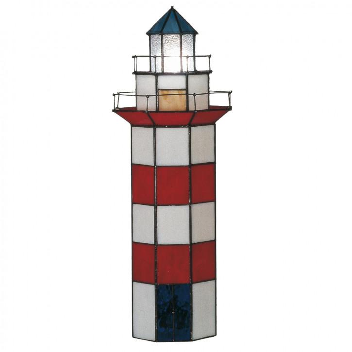 Dekolampe im Tiffany-Stil Leuchtturm 56x21cm