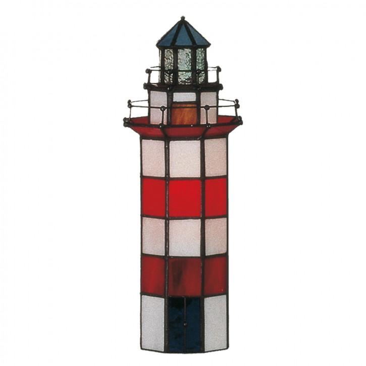 Dekolampe im Tiffany-Stil Leuchtturm klein 28x11cm