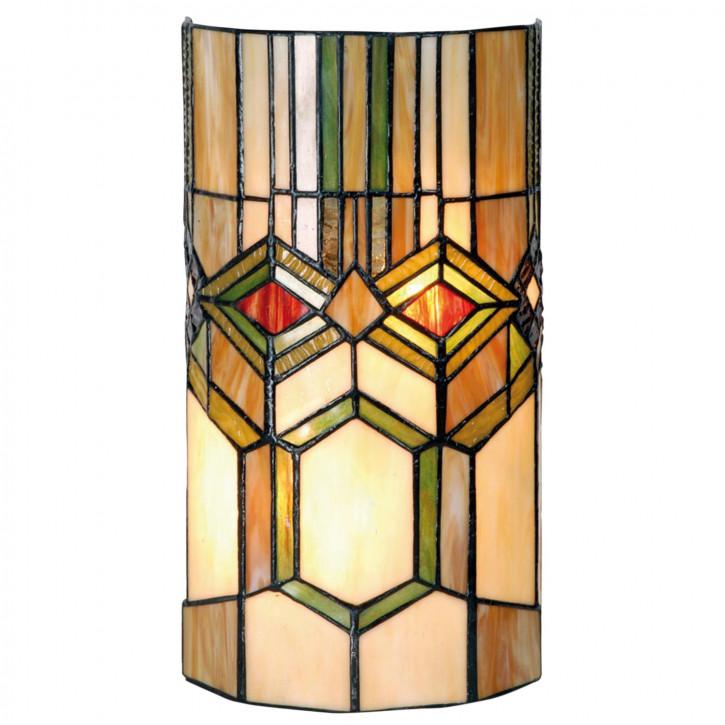 Wandlampe im Tiffany-Stil 35x18cm Kriegermaske