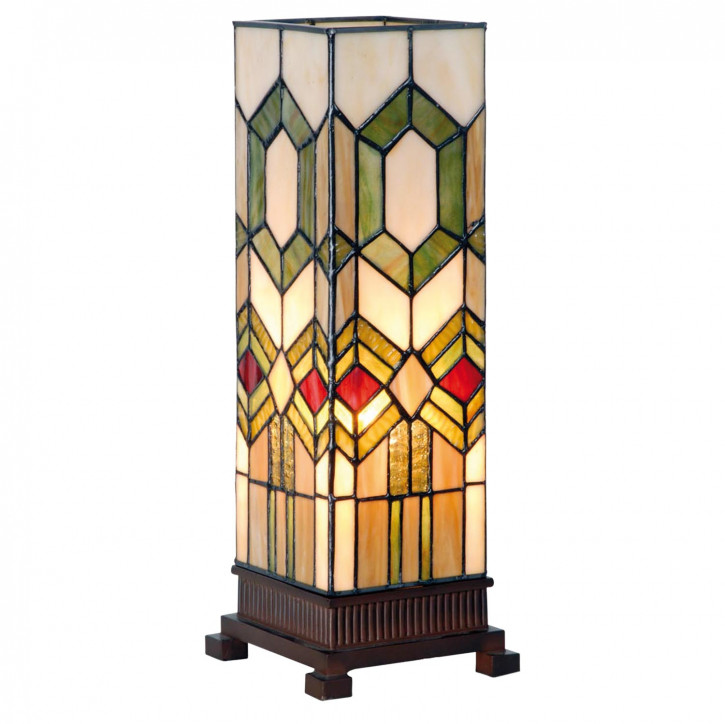 Kleine Lampe im Tiffany-Stil bunt 35x12.5cm