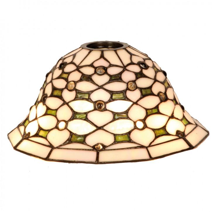 5LL- Glaschirm Lampenschirm Tiffany OHNE LEUCHTMITTEL UND HALTERUNG ca. Ø 26 cm KH 6cm