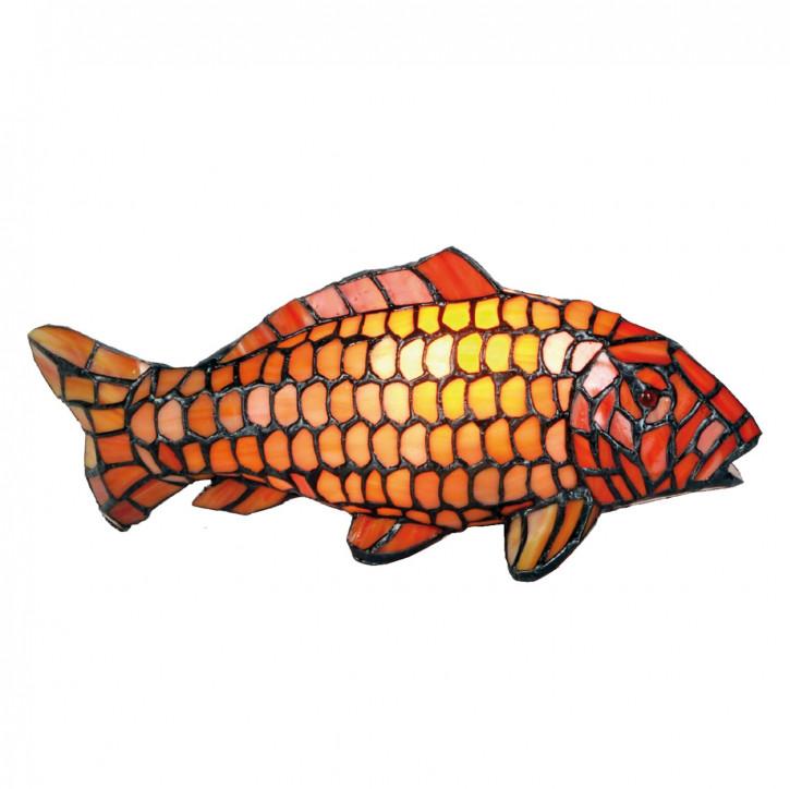 Dekolampe im Tiffany-Stil Fisch Karp 15x33cm