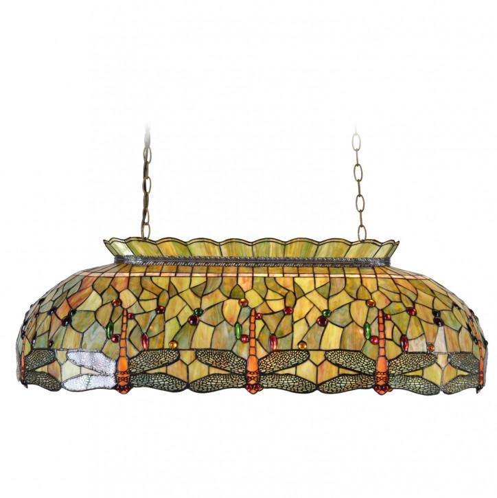 Billard-Lampe Libellen im Tiffany-Stil 98cm