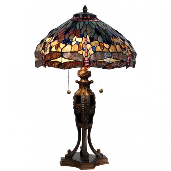 Tischlampe Tiffany Ø 42x64 cm E27/max 2x60W