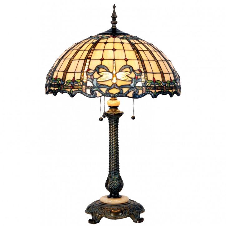 Tischlampe Tiffany Ø 50x80 cm E27/max 2x60W
