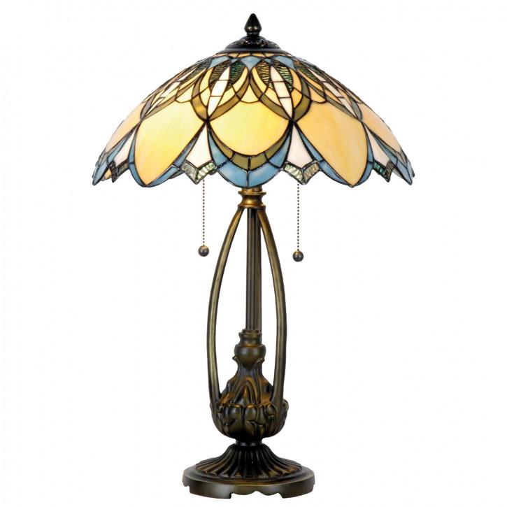 """Tischlampe im Tiffany Stil """"Gardine Bistrogardine"""""""