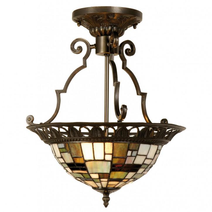 "Deckenlampe im Tiffany-Stil 37x41cm ""goldbraun"""