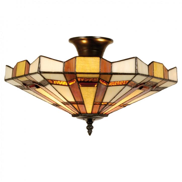 """Tiffany Deckenlampe """"Bisquit"""" 23x40cm"""