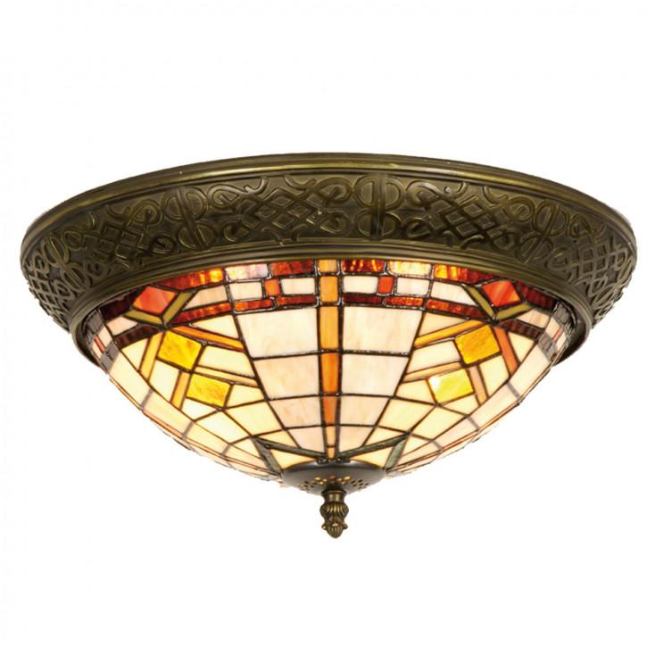 Tiffany Deckenlampe geometrisch