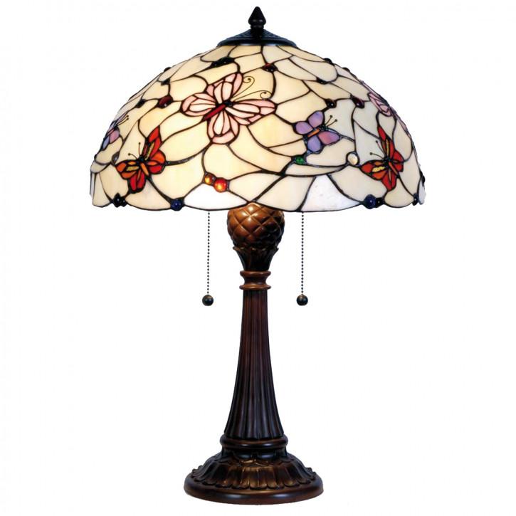 """Tischlampe im Tiffany Stil """"Papillon"""" 41x60cm"""