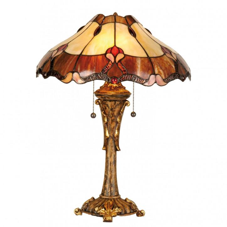 "Tischlampe im Tiffany Stil ""Wooden Pomp"""