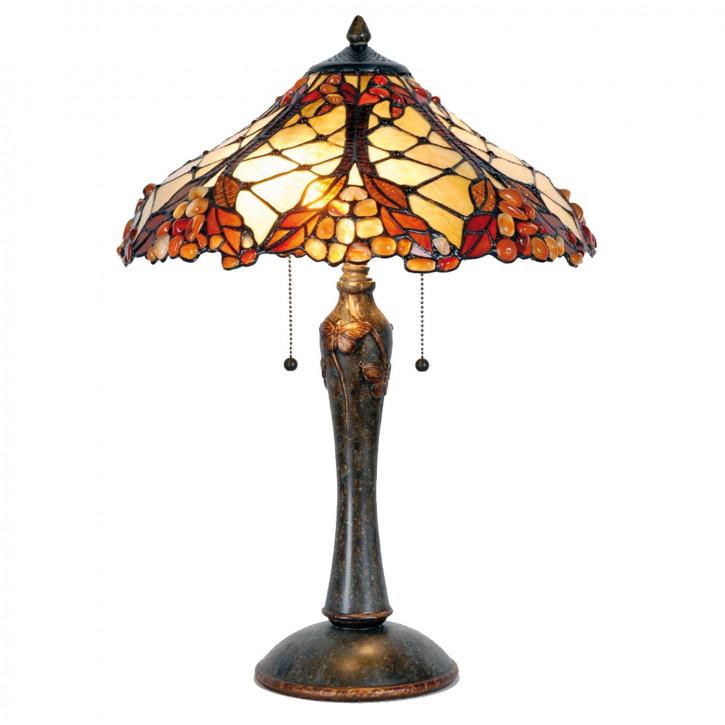 Tischlampe Tiffany-Stil ca. 60 x Ø 42 cm