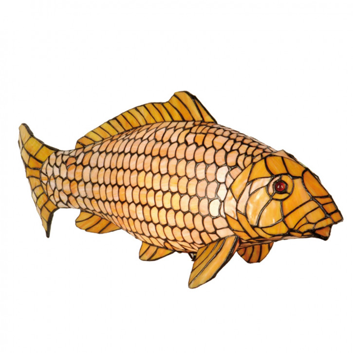 Dekolampe im Tiffany-Stil Fisch Karp 28x62cm