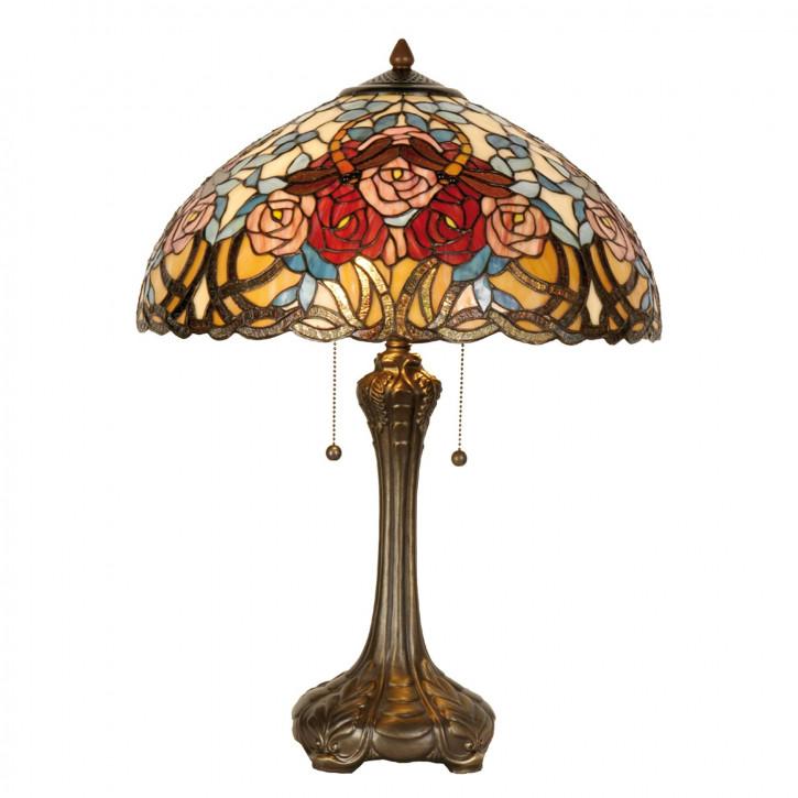 Tischlampe Tiffany-Stil ca. 64 x Ø 46 cm