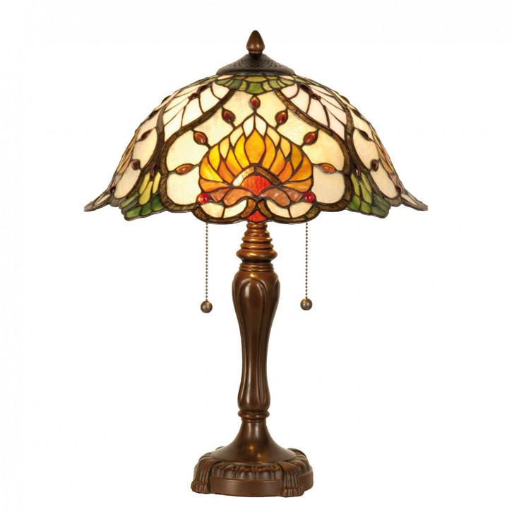 Tischlampe Tiffany Ø 40x50 cm E27/max 2x60W