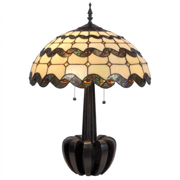 Tischlampe Tiffany-Stil ca. 72 x Ø 51 cm