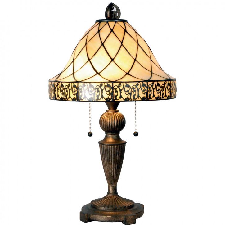 Tischlampe Tiffany Ø 36x62 cm E27/max 2x60W