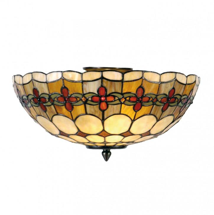 Deckenlampe im Tiffany-Stil 24x40cm