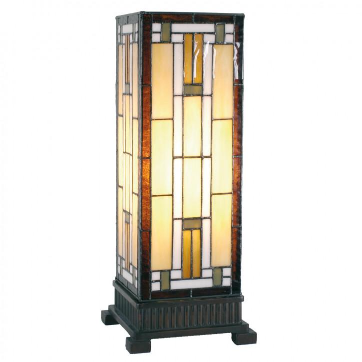 Tiffany Säulenlampe Asia 45x18cm