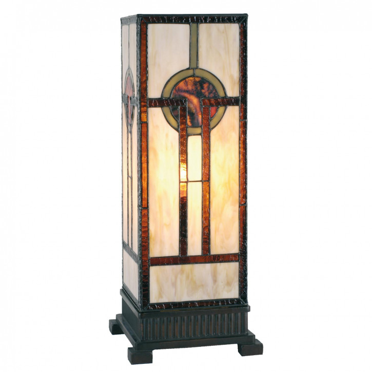 Tiffany Säulenlampe Japan Style 45x18cm