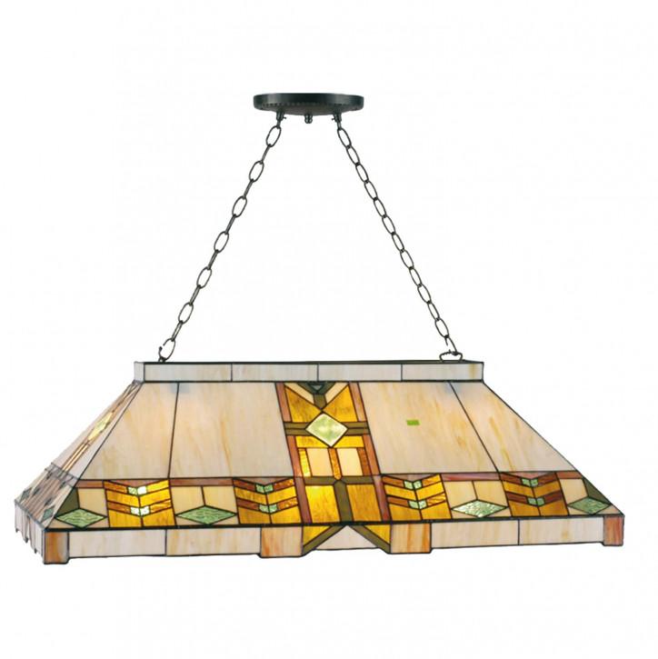 Billard-Lampe im Tiffany-Stil 92cm Azteken