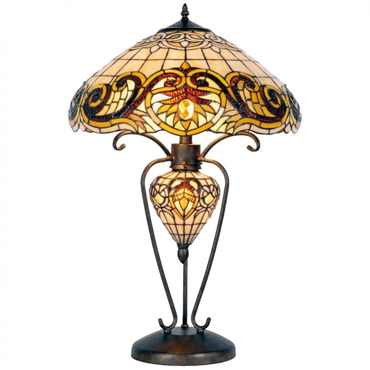 Tischlampe Tiffany-Stil ca. 72 x Ø 46 cm