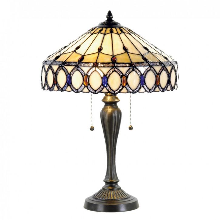 Tischlampe Tiffany Ø 40x58 cm E27/max 2x60W