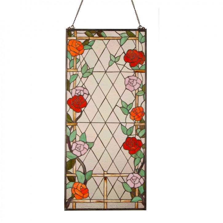 Fensterbild Rosen Tiffany ca. 91 x 40 cm