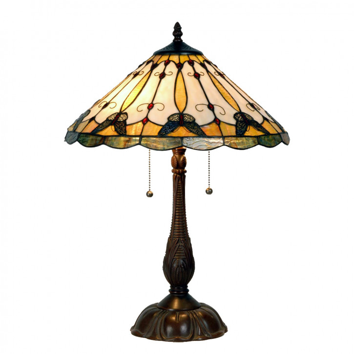 Stehlampe Tiffany-Stil ca. 78 x Ø 52 cm