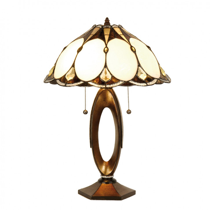 """Tischlampe im Tiffany Stil """"Vanilla Choc"""""""