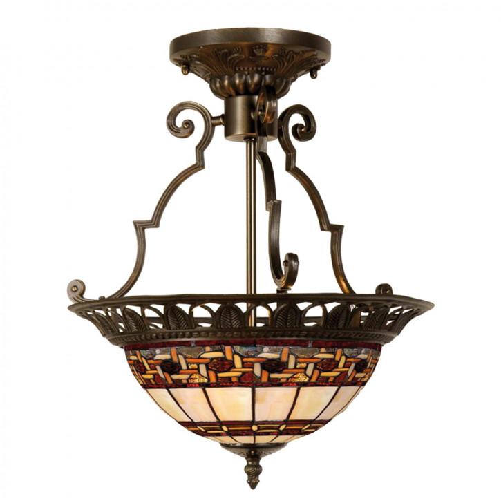 "Deckenlampe im Tiffany-Stil 37x41cm ""Rot"""