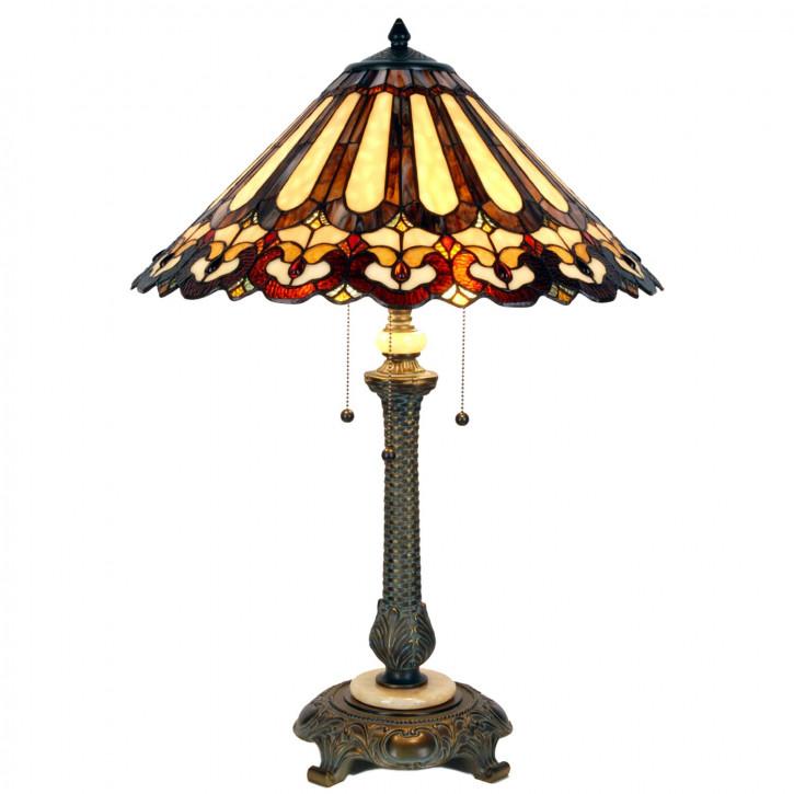 Tischlampe Tiffany Ø 53x71 cm E27/max 2x60W