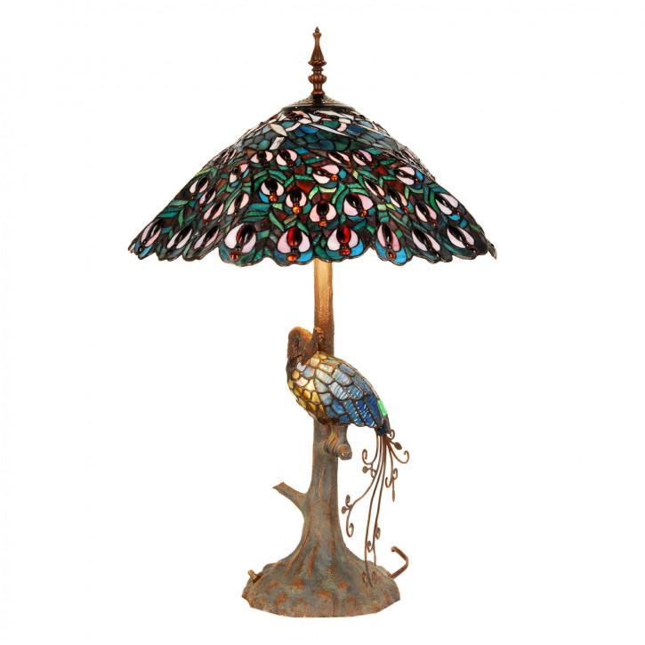 Tischlampe im Tiffany Stil 49cm