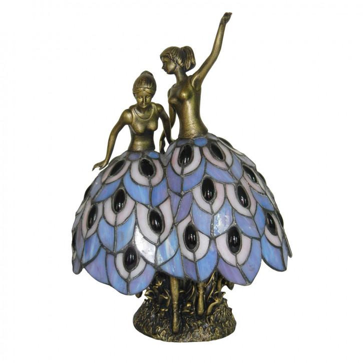 Dekolampe im Tiffany-Stil 2 Tänzerinnen ca. 31cm