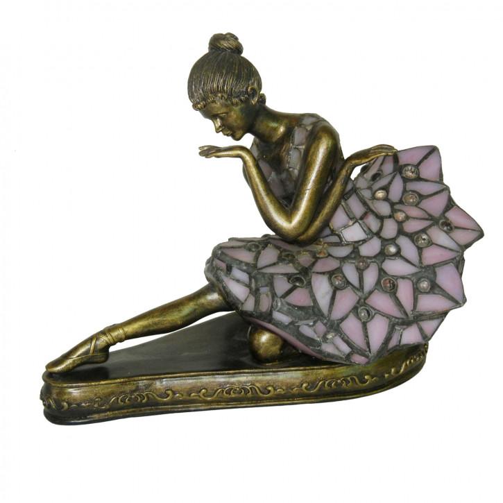 Dekolampe im Tiffany-Stil Balletttänzerin 27 x 16 x 22 cm