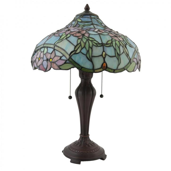 """Tischlampe im Tiffany Stil """"Blue Garden"""""""