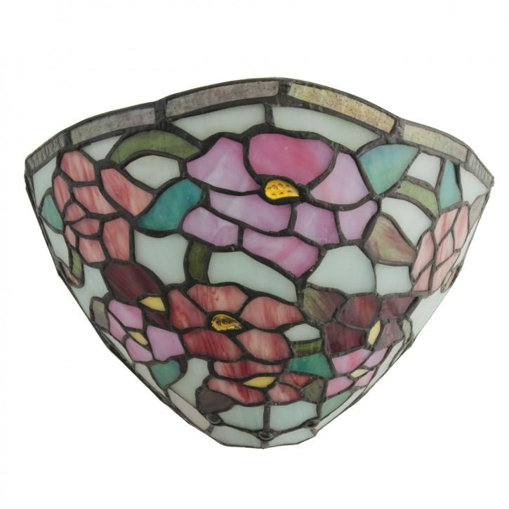Wandlampe im Tiffany-Stil 30x19cm Seerosenteich