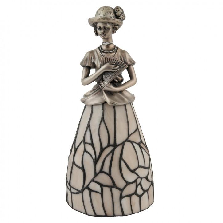Dekolampe im Tiffany-Stil Dame 31 x 15 cm