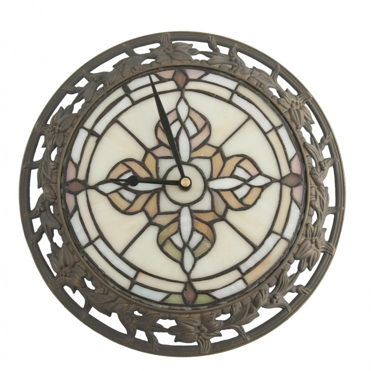 Dekolampe im Tiffany-Stil Uhr Ø 28 cm